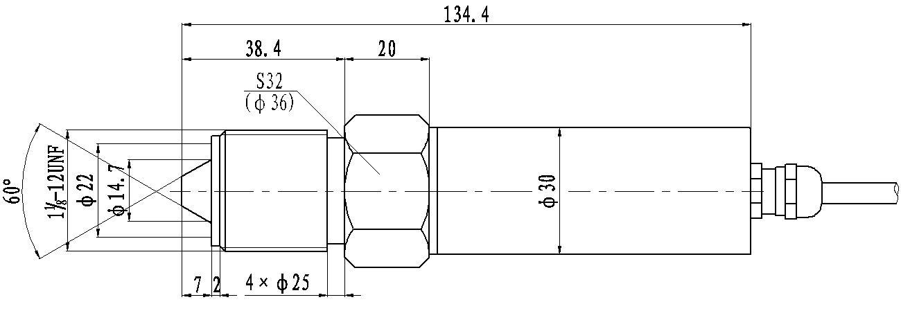高压压力变送器 外形尺寸